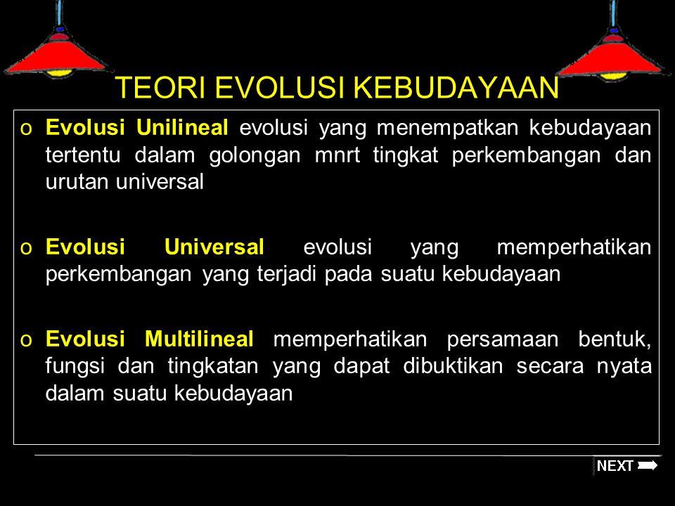 TEORI EVOLUSI KEBUDAYAAN
