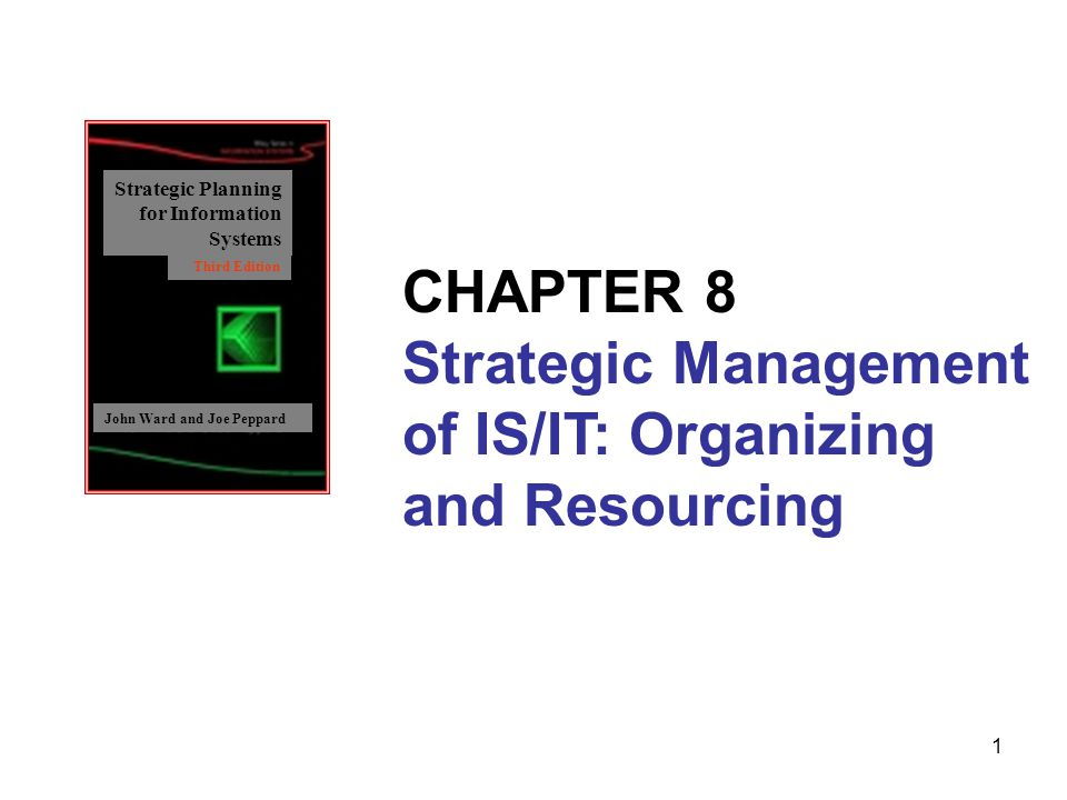 CHAPTER 8 Strategic Management of IS/IT: Organizing and Resourcing