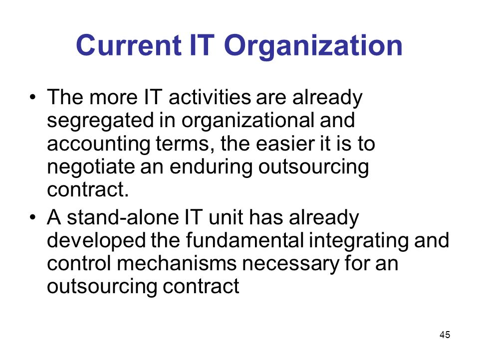 Current IT Organization