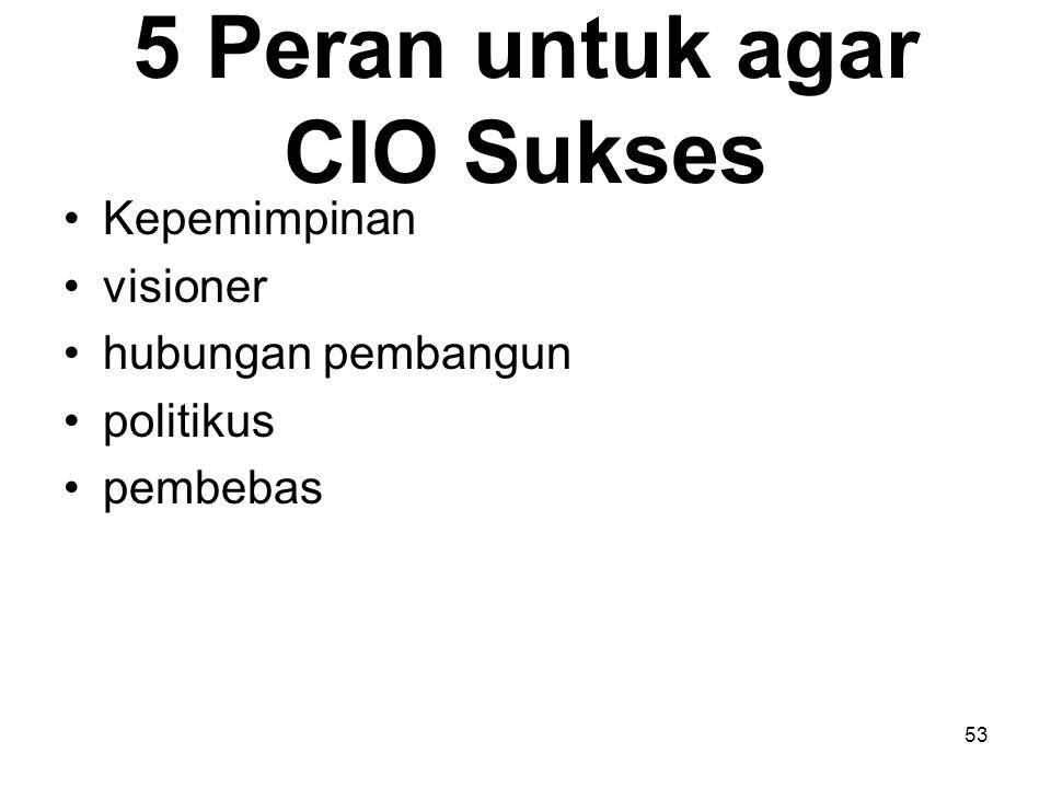 5 Peran untuk agar CIO Sukses