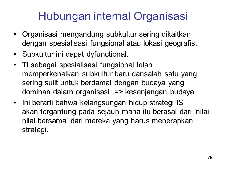 Hubungan internal Organisasi
