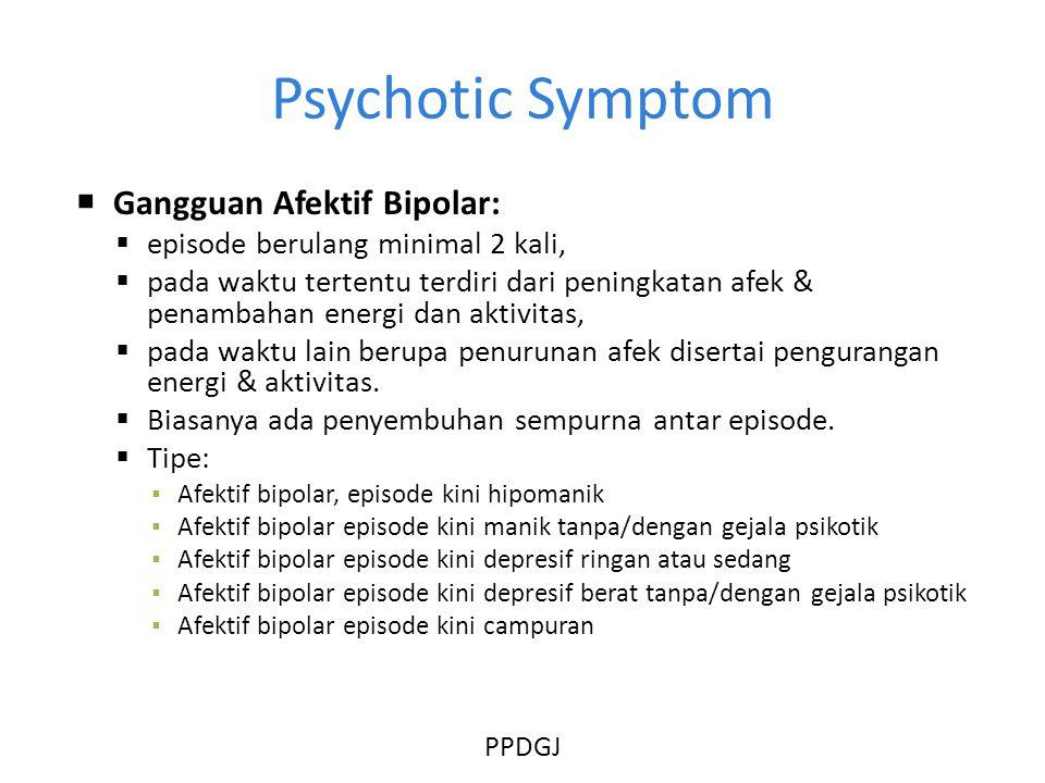 Psychotic Symptom Gangguan Afektif Bipolar: