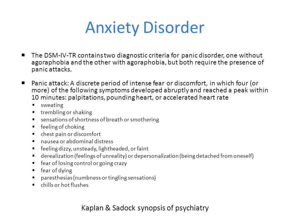 Kaplan & Sadock synopsis of psychiatry