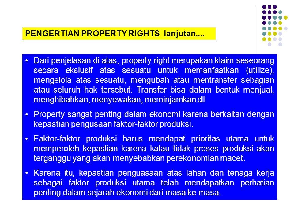 PENGERTIAN PROPERTY RIGHTS lanjutan....