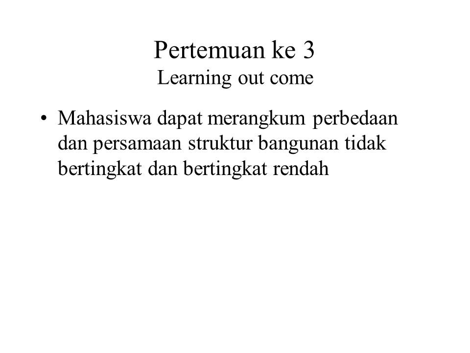 Pertemuan ke 3 Learning out come