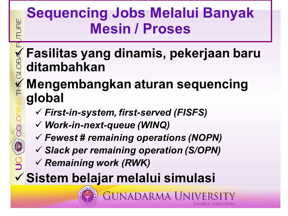 Sequencing Jobs Melalui Banyak Mesin / Proses