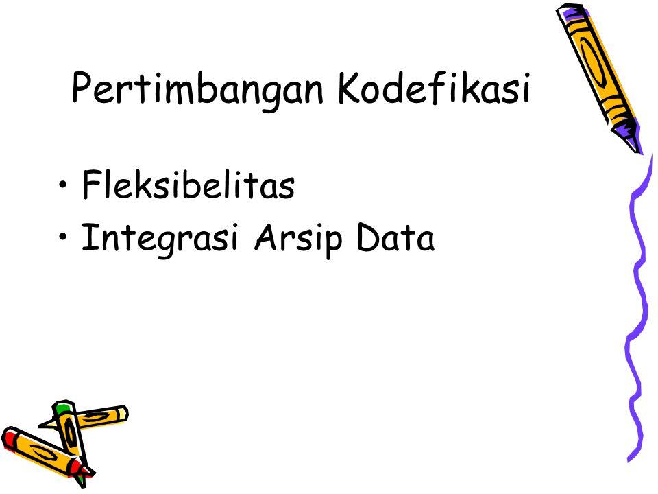 Pertimbangan Kodefikasi
