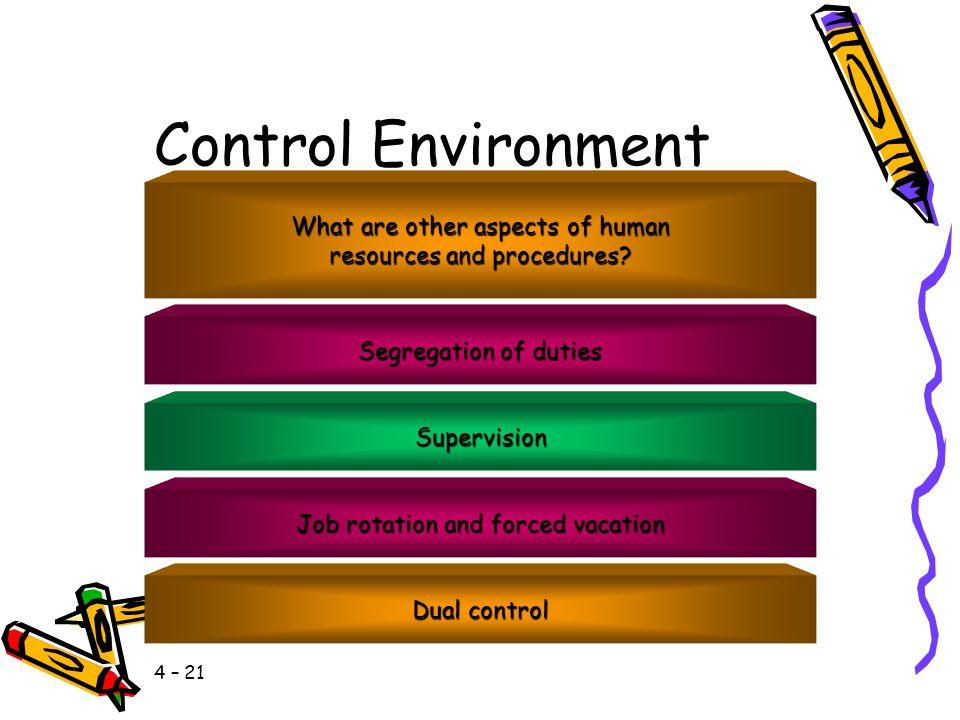 Control Environment What are other aspects of human