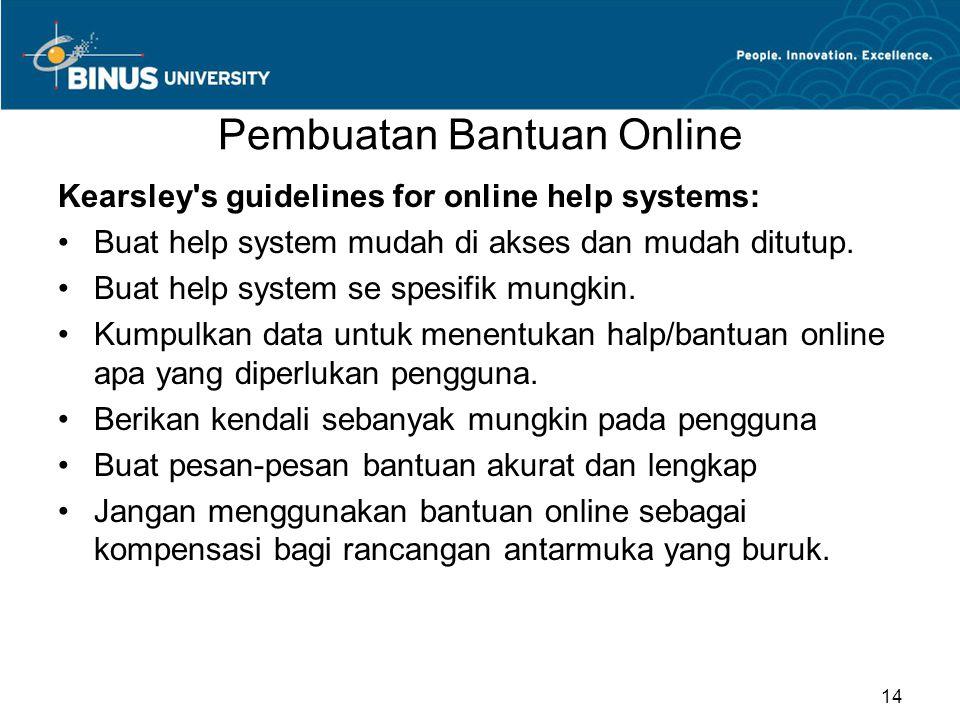 Pembuatan Bantuan Online