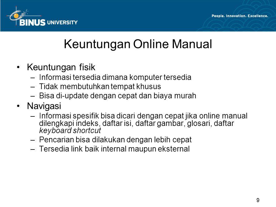 Keuntungan Online Manual