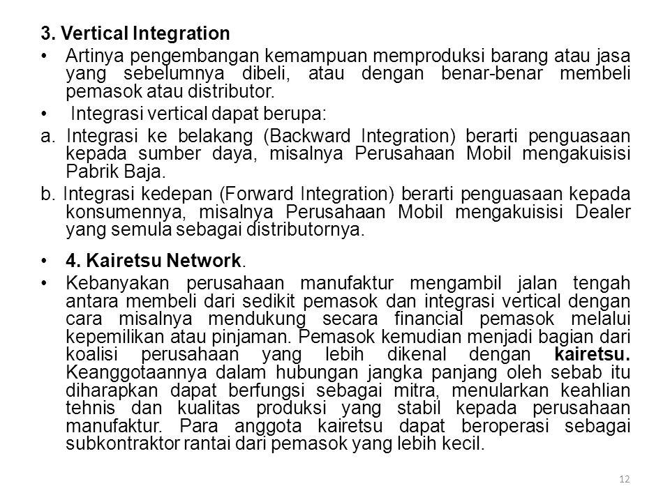 3. Vertical Integration