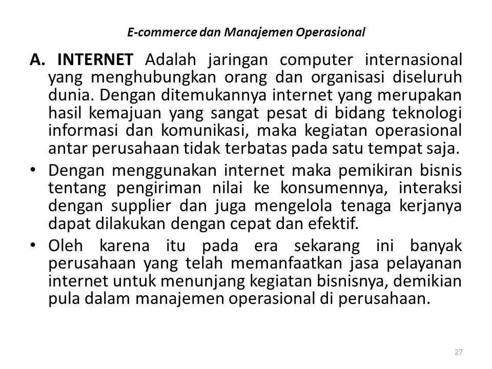 E-commerce dan Manajemen Operasional