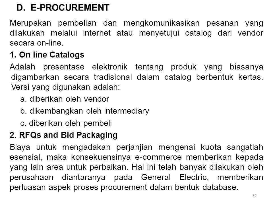 D. E-PROCUREMENT