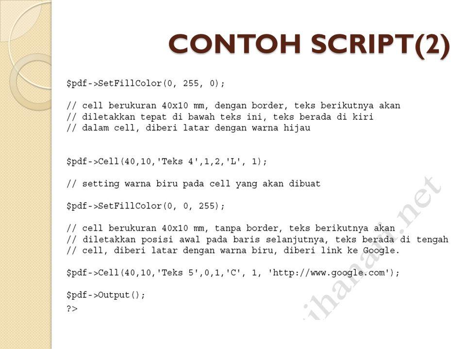 CONTOH SCRIPT(2)
