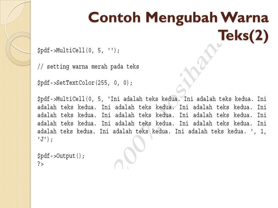 Contoh Mengubah Warna Teks(2)