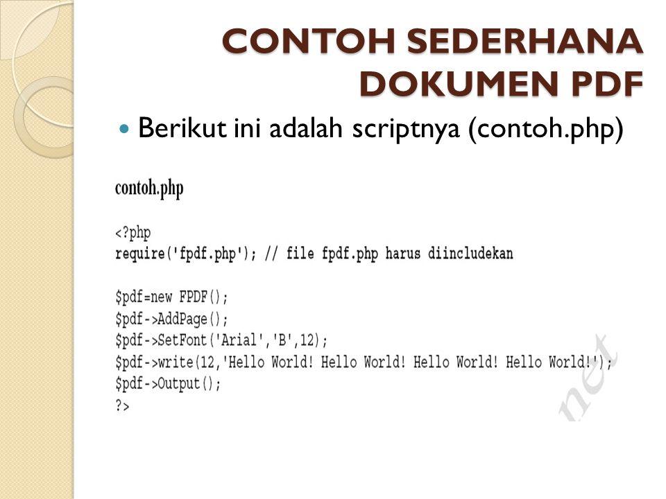 CONTOH SEDERHANA DOKUMEN PDF