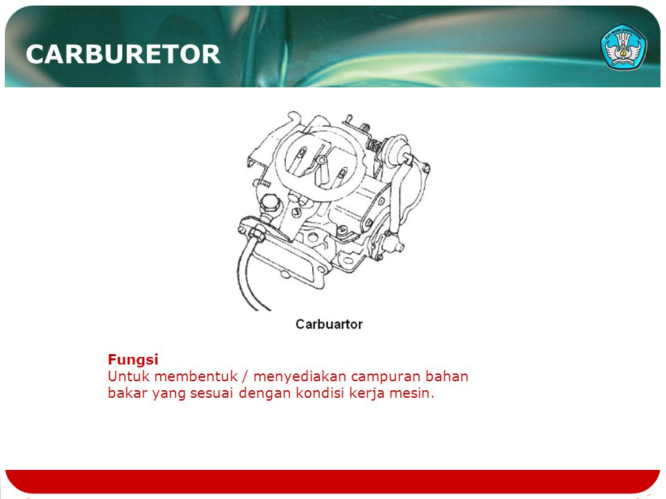 CARBURETOR Fungsi.