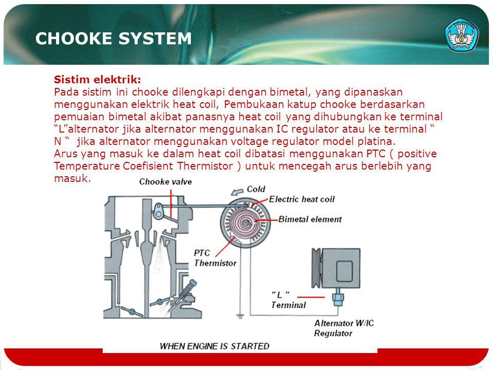 CHOOKE SYSTEM Sistim elektrik: