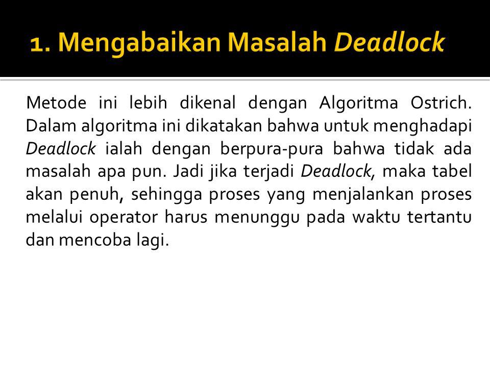 1. Mengabaikan Masalah Deadlock