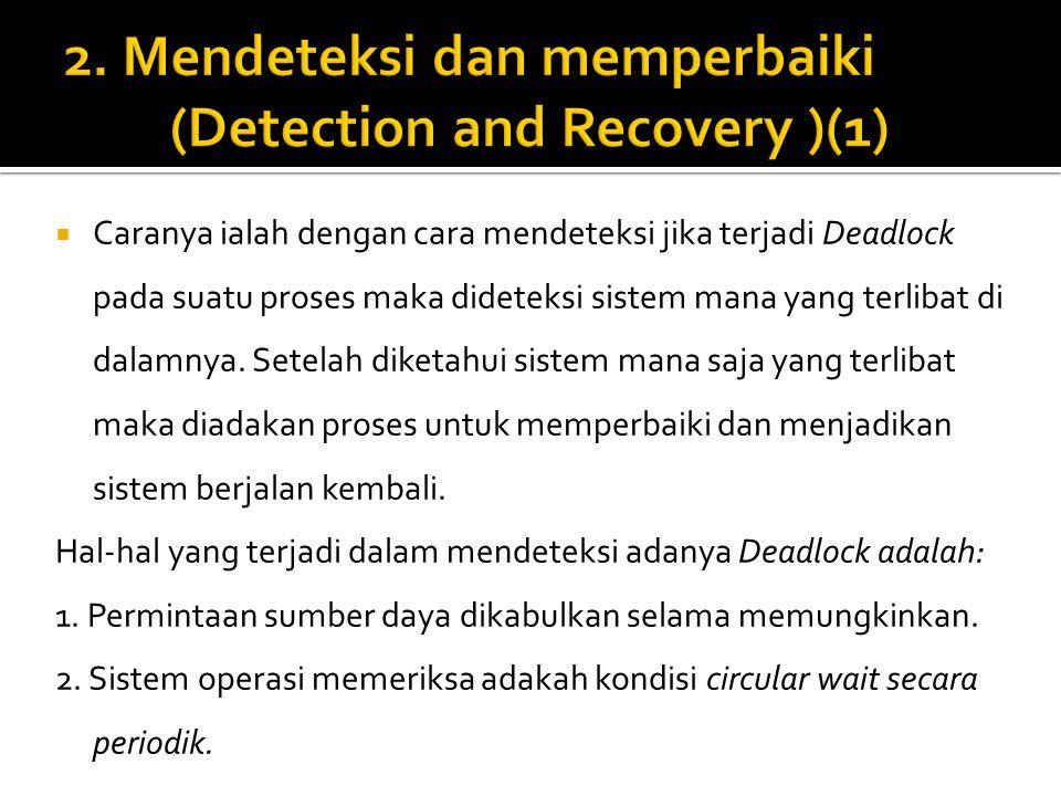 2. Mendeteksi dan memperbaiki (Detection and Recovery )(1)