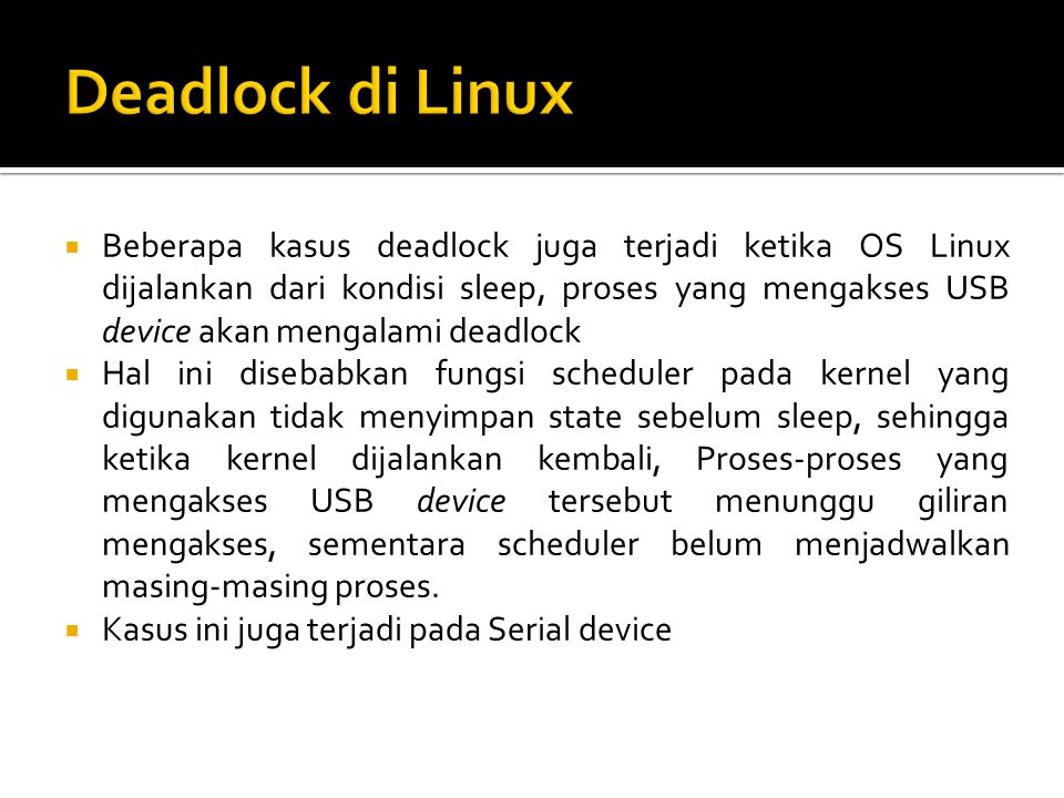 Deadlock di Linux