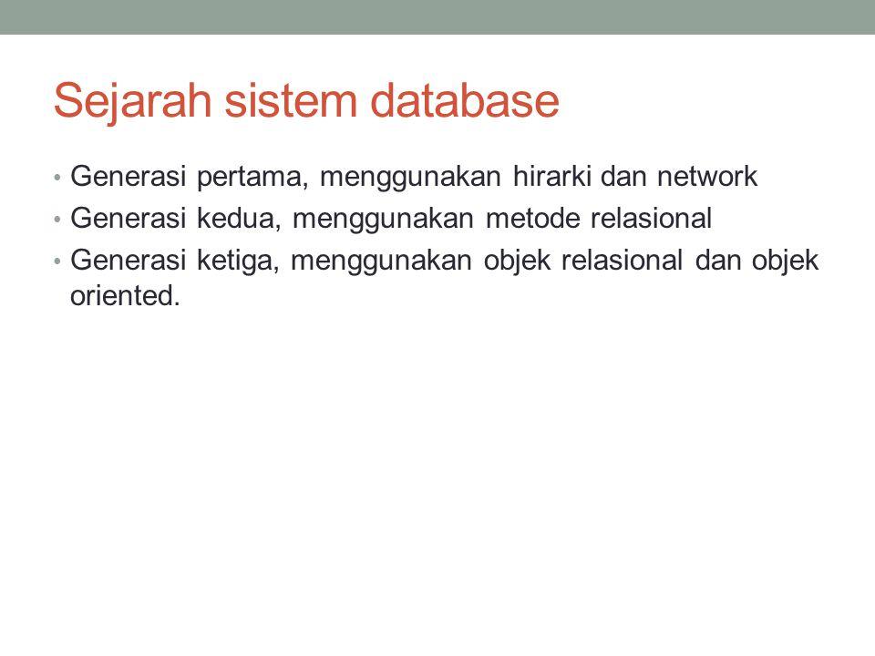 Sejarah sistem database