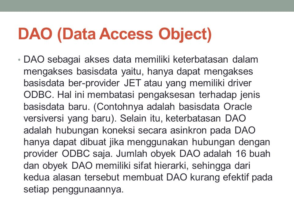 DAO (Data Access Object)