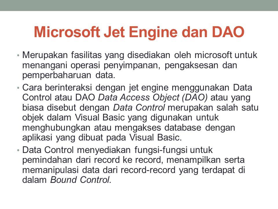 Microsoft Jet Engine dan DAO
