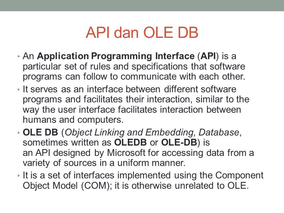API dan OLE DB