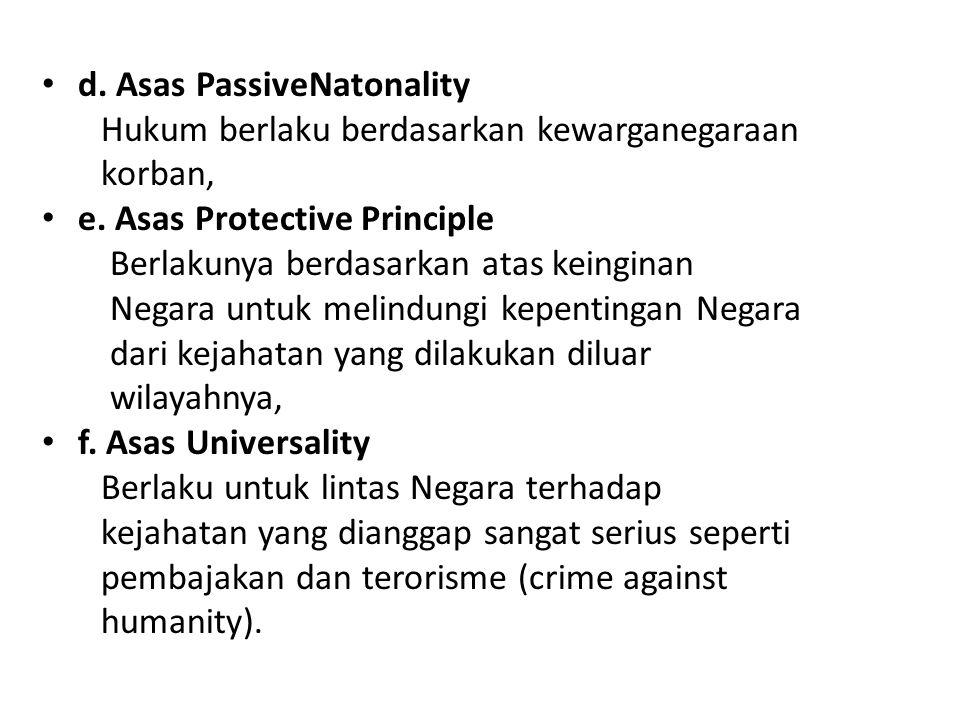 d. Asas PassiveNatonality