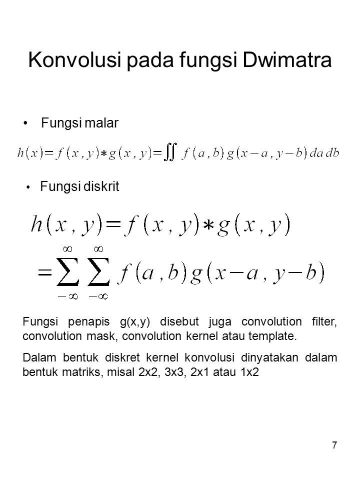 Konvolusi pada fungsi Dwimatra