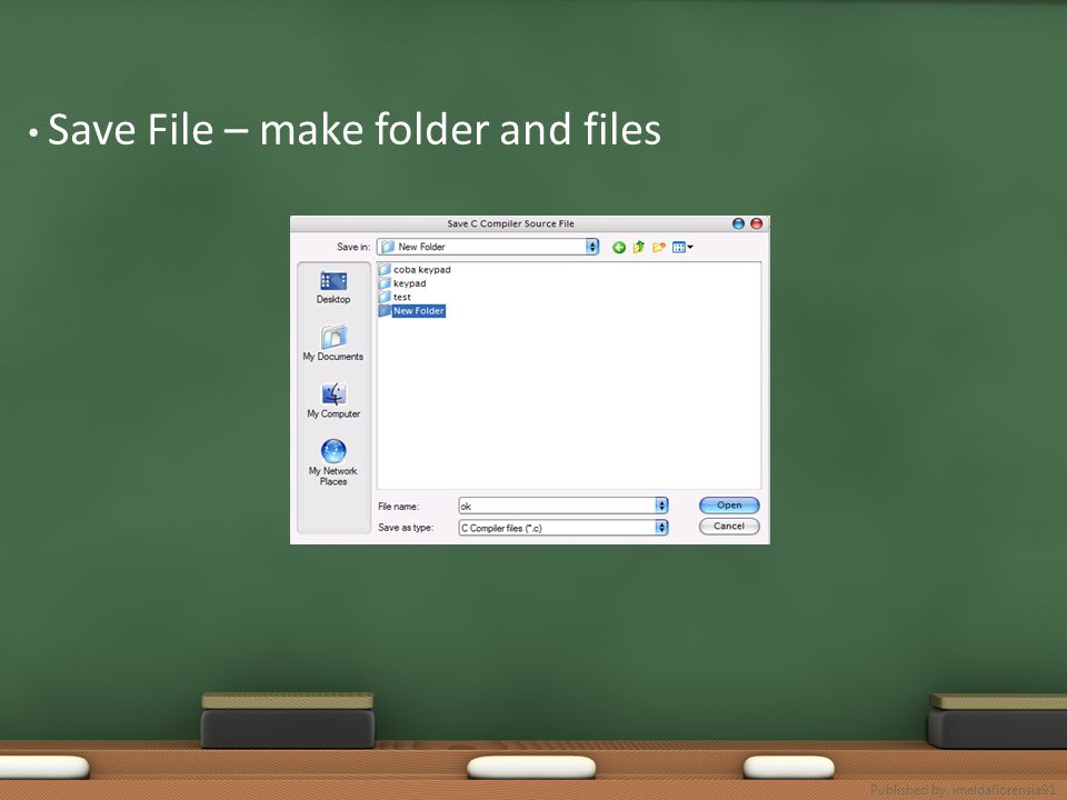 Save File – make folder and files