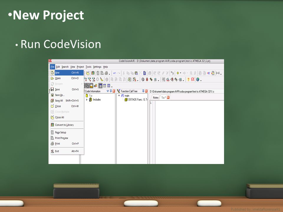 New Project Run CodeVision Published by. imeldaflorensia91