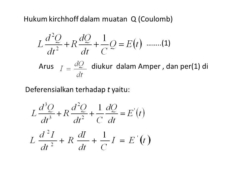 Hukum kirchhoff dalam muatan Q (Coulomb)