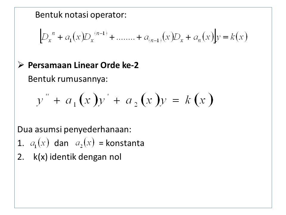 Bentuk notasi operator: