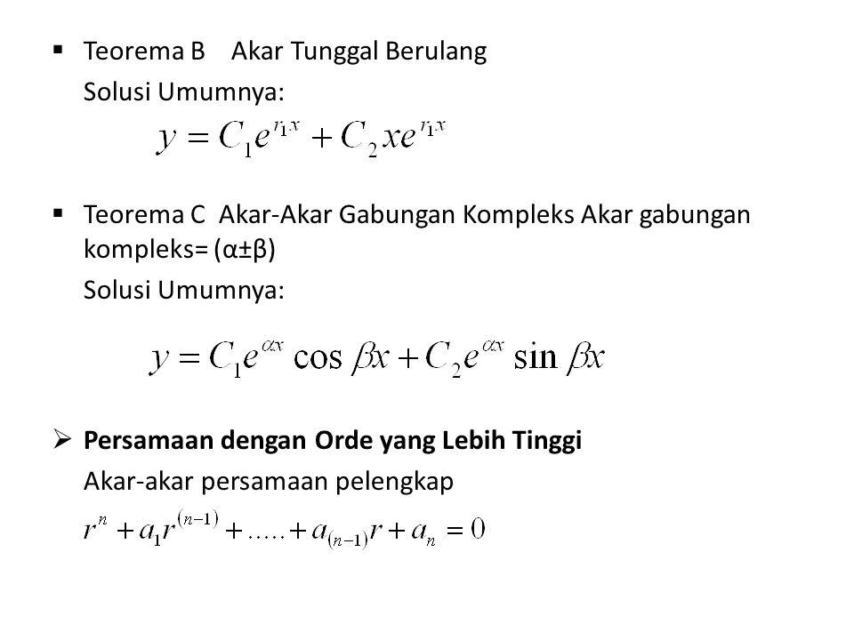 Teorema B Akar Tunggal Berulang