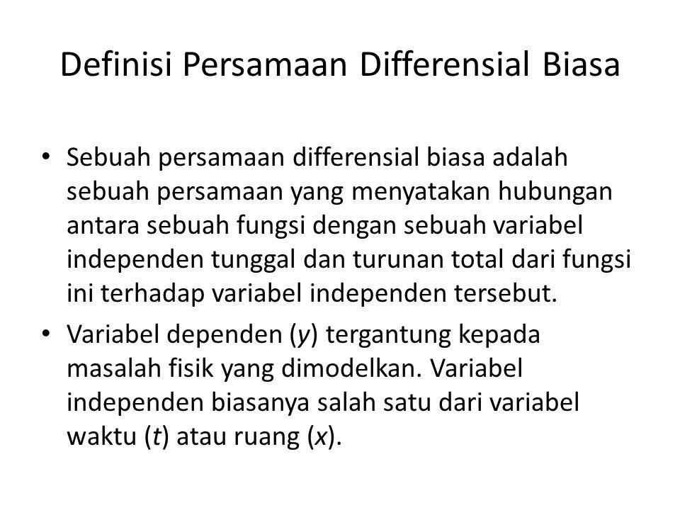 Definisi Persamaan Differensial Biasa