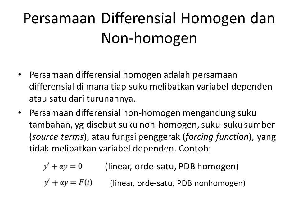 Persamaan Differensial Homogen dan Non-homogen