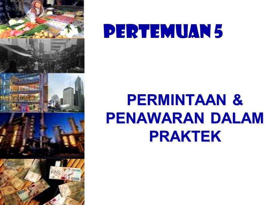 PERMINTAAN & PENAWARAN DALAM PRAKTEK
