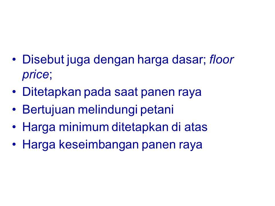 Disebut juga dengan harga dasar; floor price;