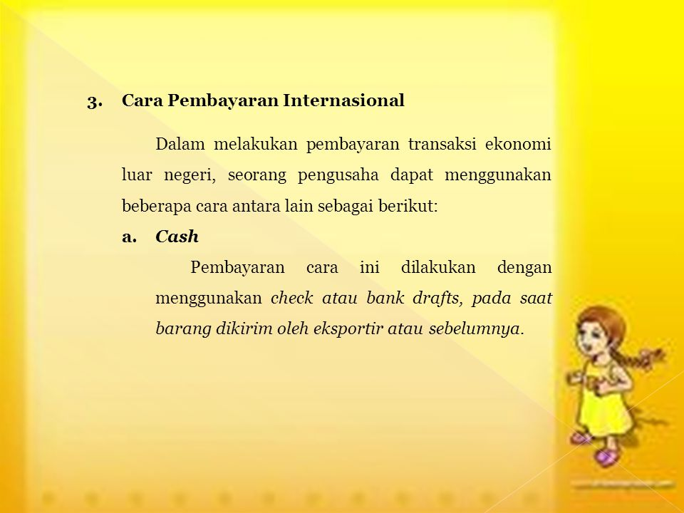 3. Cara Pembayaran Internasional
