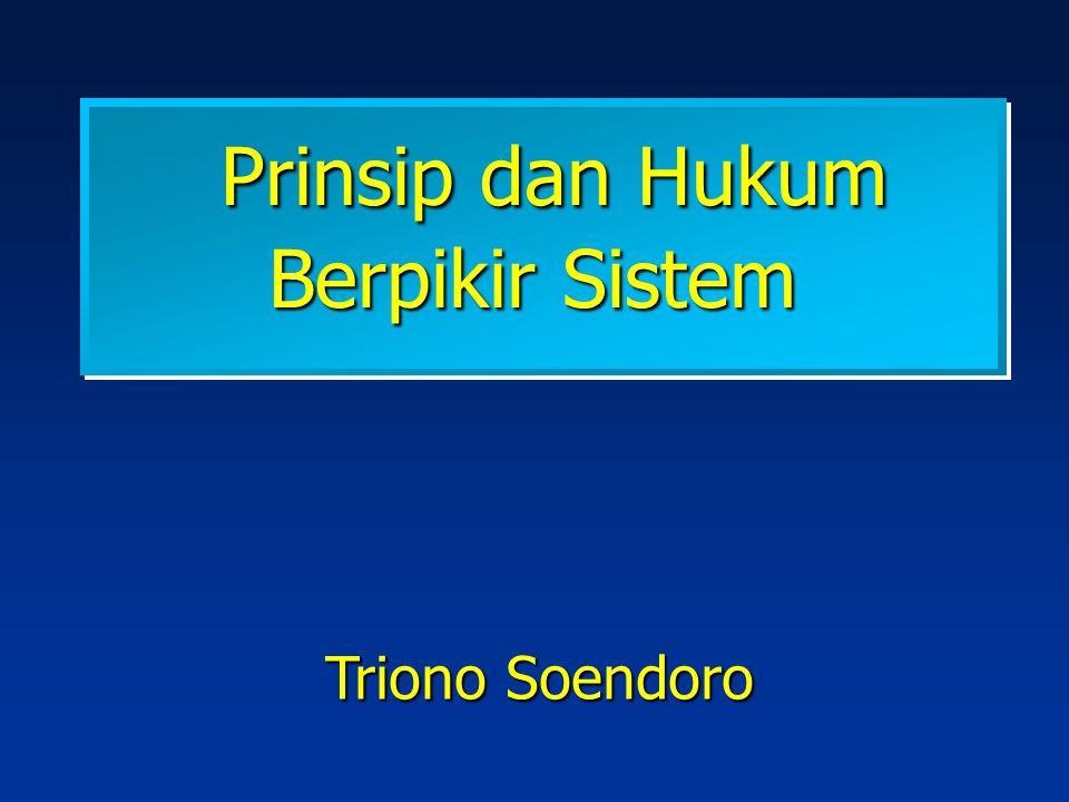 Prinsip dan Hukum Berpikir Sistem