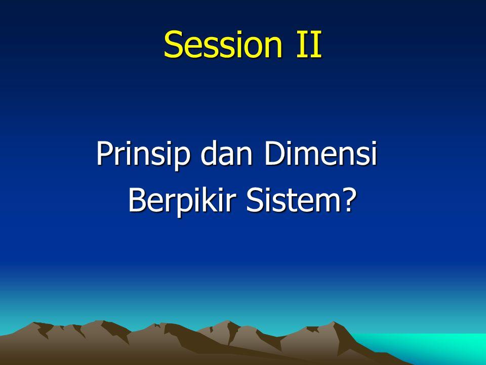 Session II Prinsip dan Dimensi Berpikir Sistem