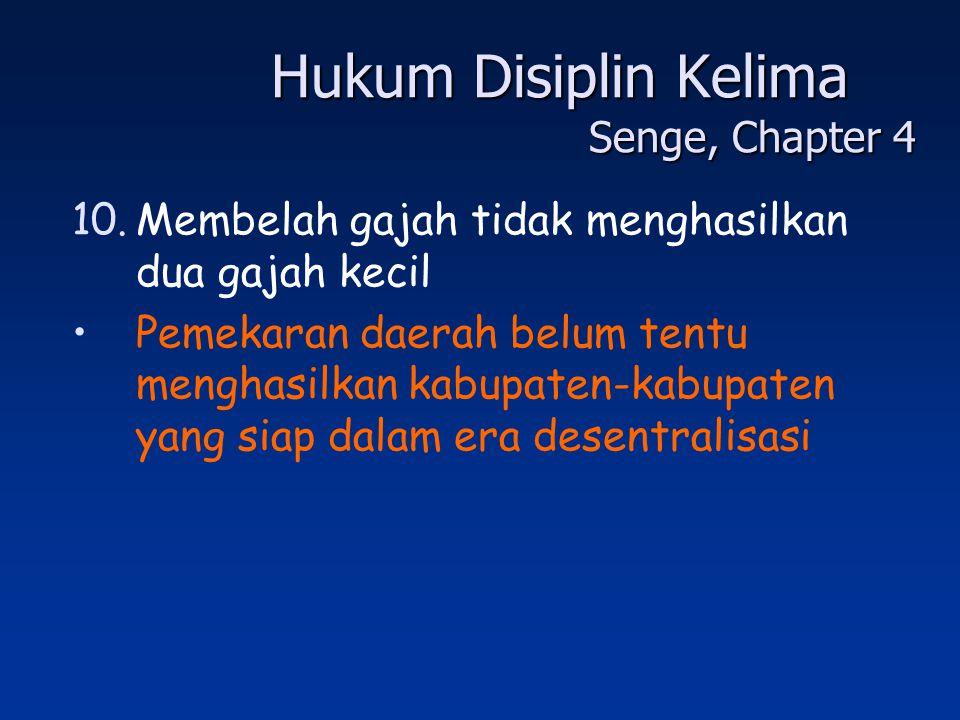 Hukum Disiplin Kelima Senge, Chapter 4
