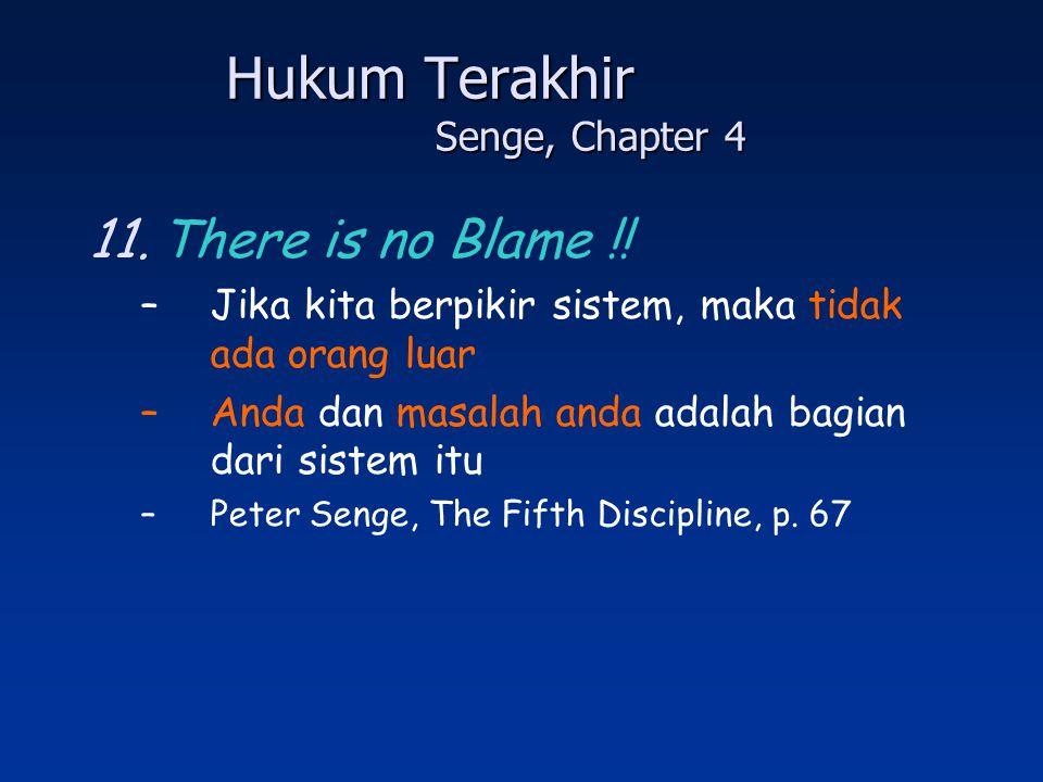 Hukum Terakhir Senge, Chapter 4