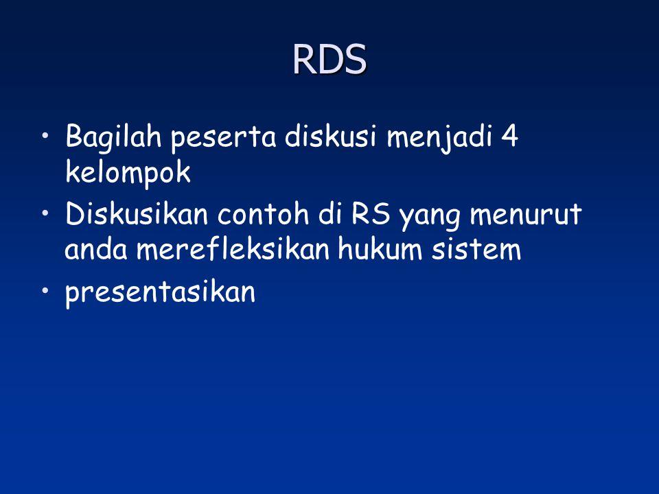 RDS Bagilah peserta diskusi menjadi 4 kelompok