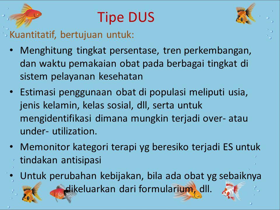 Tipe DUS Kuantitatif, bertujuan untuk: