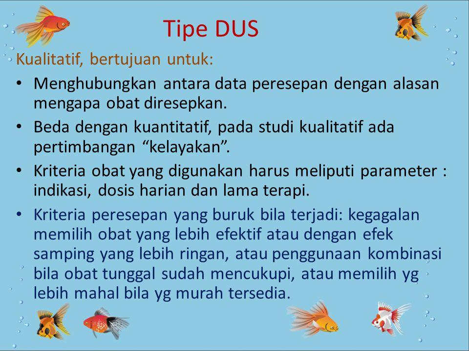 Tipe DUS Kualitatif, bertujuan untuk: