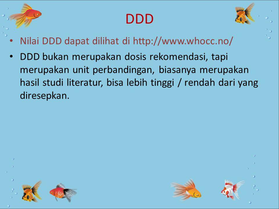 DDD Nilai DDD dapat dilihat di http://www.whocc.no/