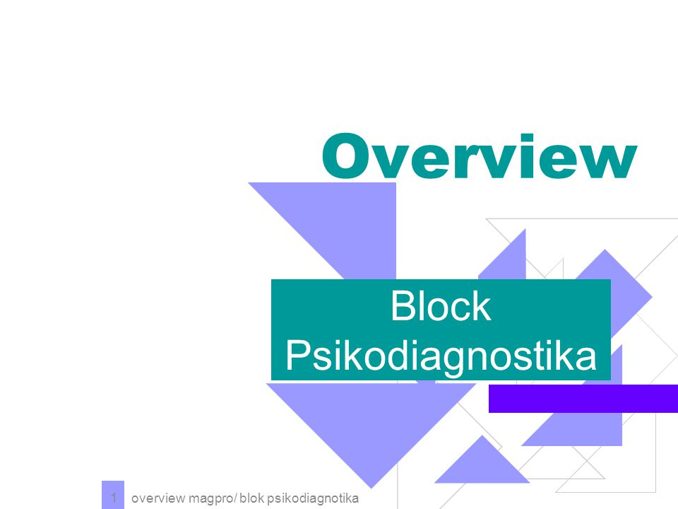 Block Psikodiagnostika